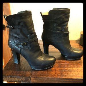 Size 8 Black Heeled Ugg Booties